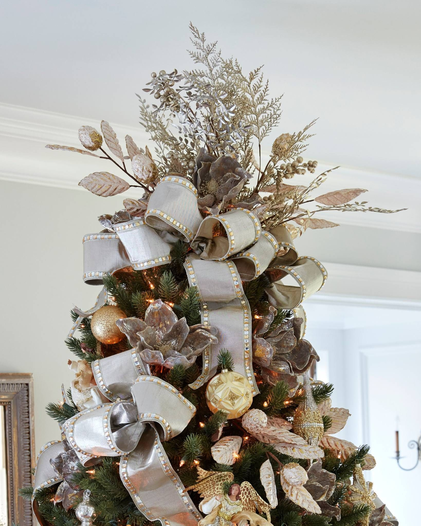 Christmas Bouquet Tree Topper Diy christmas tree topper