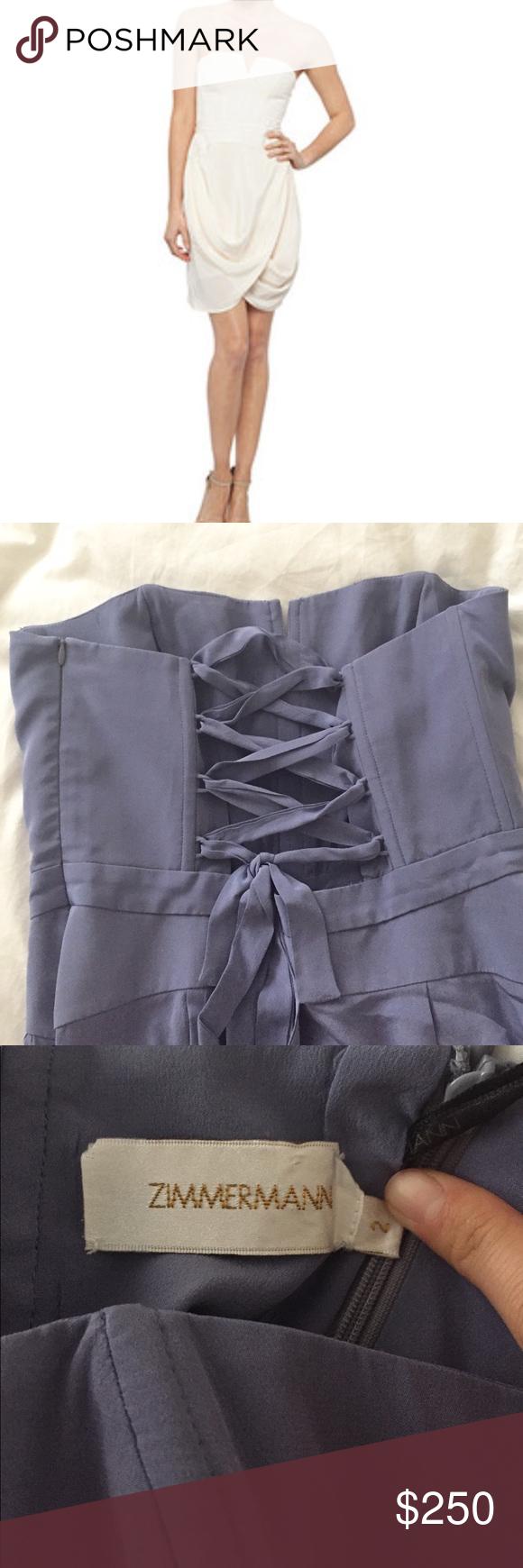 Zimmermann silk lace back dress