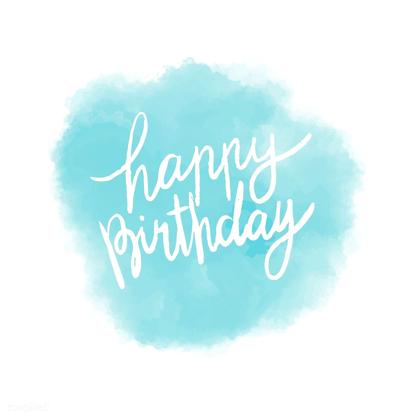Happy Birthday Typography Vector In Blue Free Image By Rawpixel Com Happy Birthday Typography Birthday Typography Happy Birthday Art