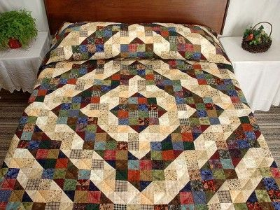 Split Nine Patch Half Square Triangle Quilts Quilts