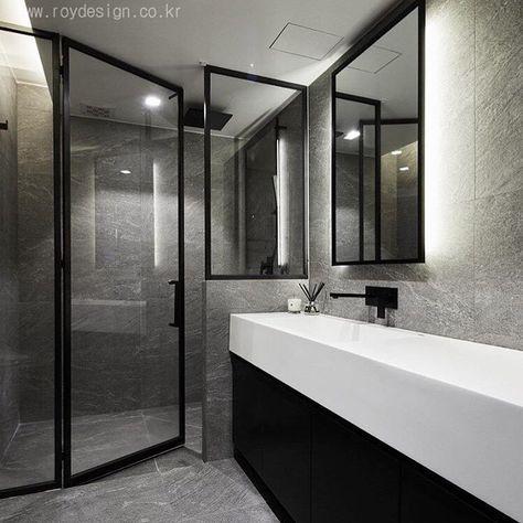 윤현상재 타일 시공사례: 호텔 욕실 부럽지 않은 인테리어. Stone ...