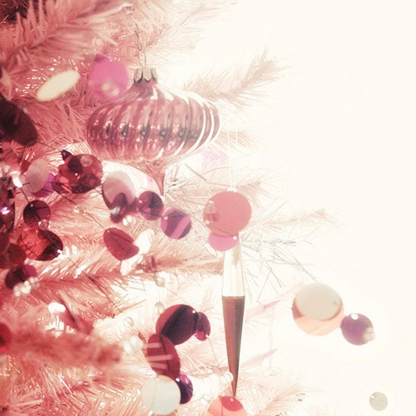 Pink Christmas tree decorations ideas Christmas Decorating
