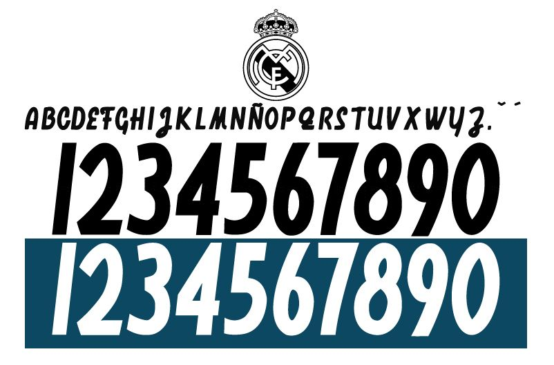 Font Real Madrid 2018-2019 Free download 100% - FCFONTS