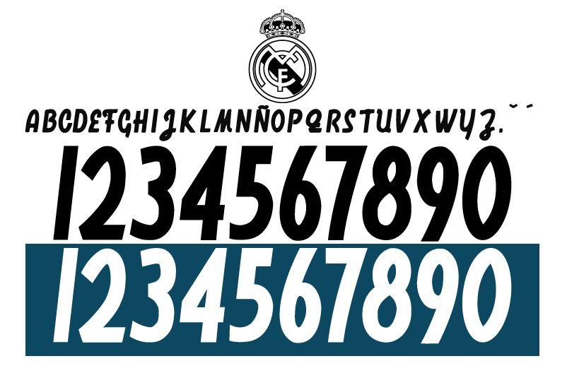 Font Real Madrid 2018 2019 Free Download 100 Fcfonts Desain