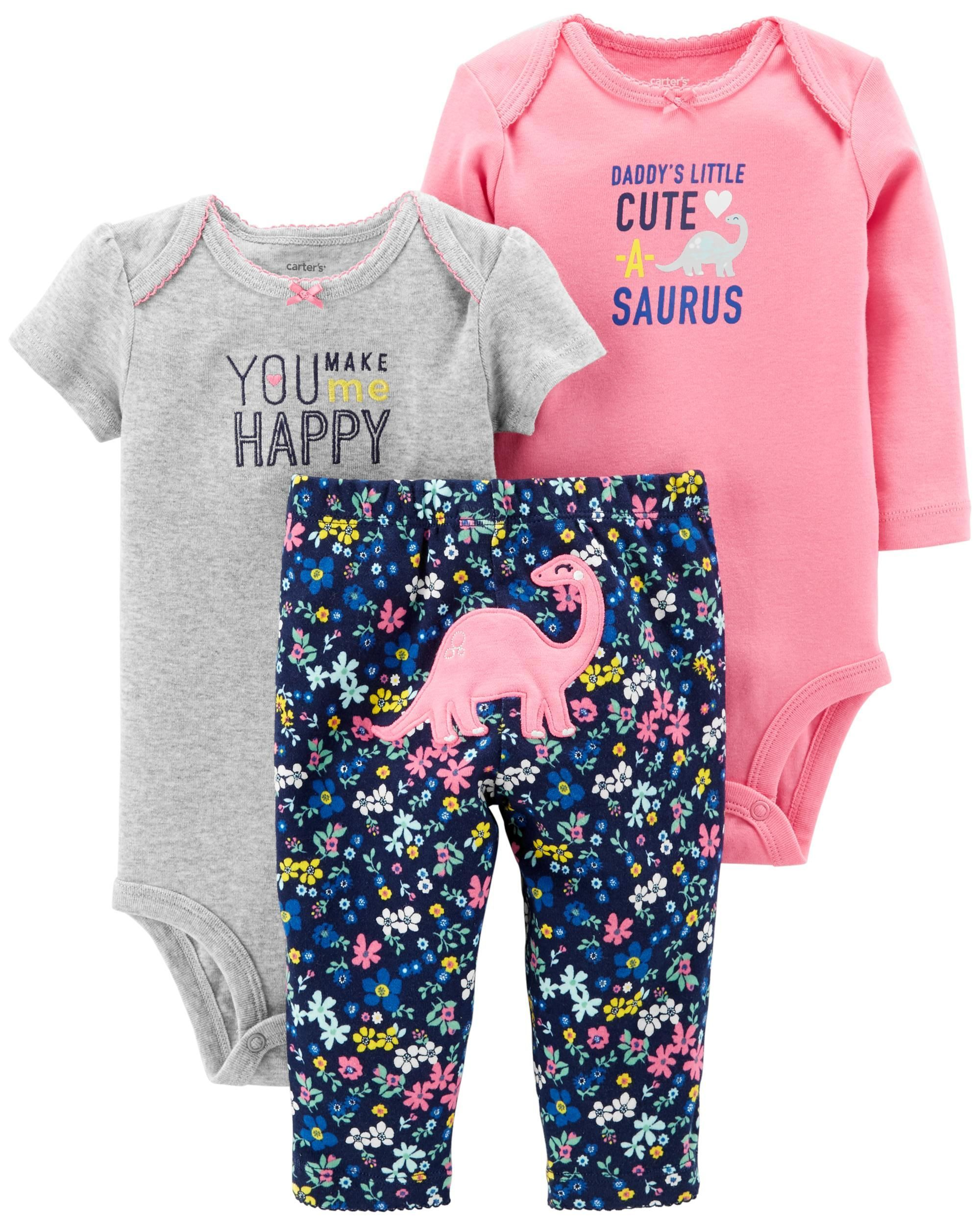 3 Piece Little Character Set Lil Girl Stuff Carters Baby Girl