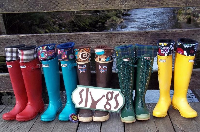 3e03757a7a724 SLUGS Fleece Snow Rain Boot Liners Solid Black, Tall Socks, Winter ...