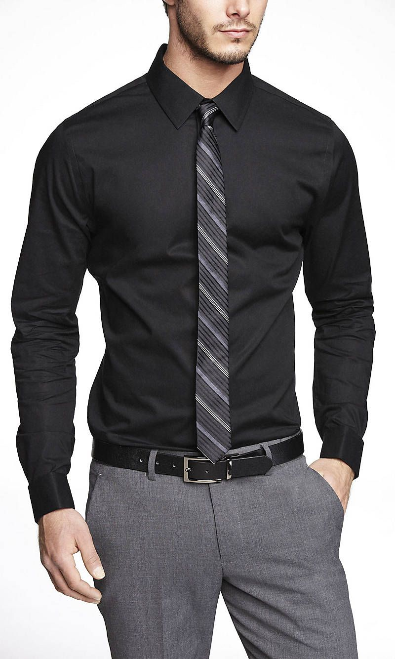 Extra Slim 1mx French Cuff Shirt From Express Men Fashion Casual Outfits Formal Men Outfit Business Casual Men [ 1334 x 800 Pixel ]