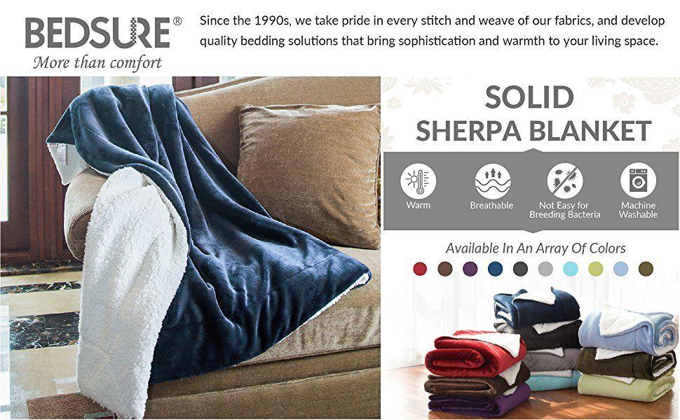 Sherpa Throw Blanket Navy Blue 40x40 Reversible Fuzzy Microfiber All Classy Bedsure Sherpa Blanket Throw Blankets