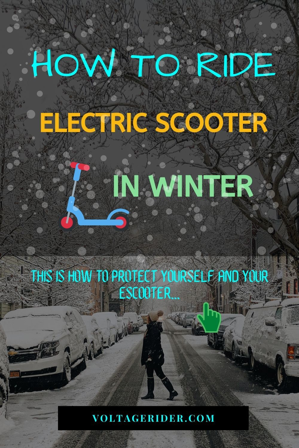 Do not get outside with your escooter before you go through this guide on how to ride your electric scooter in winter. Get ready to apply all the winter tips for riding electric scooter. Keep riding electric scooter & be safe!  #electricscooter #escooter #escooters #electricscooters #electricscooterwinter #electricscootertips #escooterwinter #ridinginwinter #wintertipsescooter #wintertips #voltagerider #wintertires #micromobility #urbanmobility #esoot #girlsonscooters #rideelectric