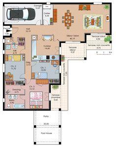 exemple plan maison plain pied - Exemple Plan Maison Moderne