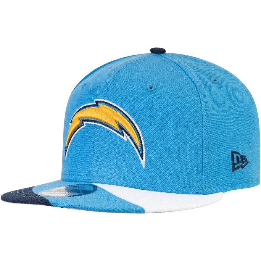 Men S New Era Powder Blue Los Angeles Chargers Curve 9fifty Adjustable Snapback Hat Los Angeles Chargers New Era Snapback Hats
