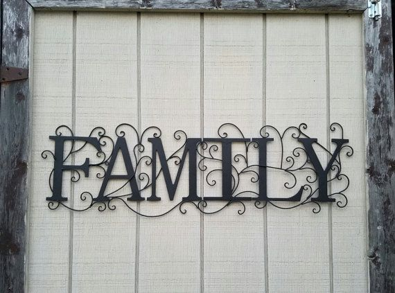 Metal Wall Art Black Home Decor Family Wall Art Wrought | home ...