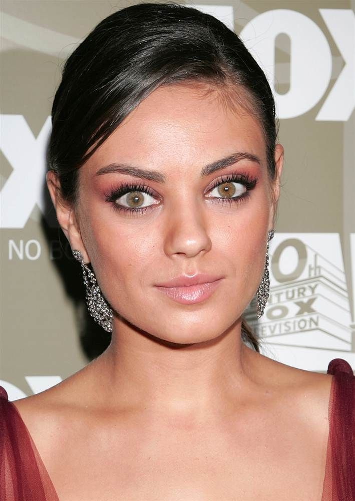 Mila Kunis has two different colored eyes!