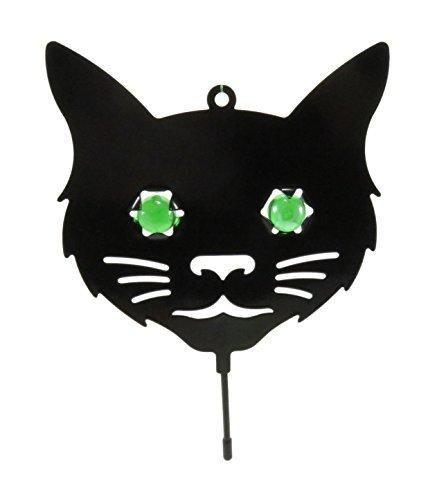 Black Cat Green Marble Eyes Halloween Decoration Pest Repellent