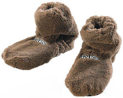 wärmende Sockenfür den Winter: kurz in die Mikrowelle und rein in super flauschige, warme Hausschuhe. Leinsamen speichern die Wärme für mehrere Stunden!