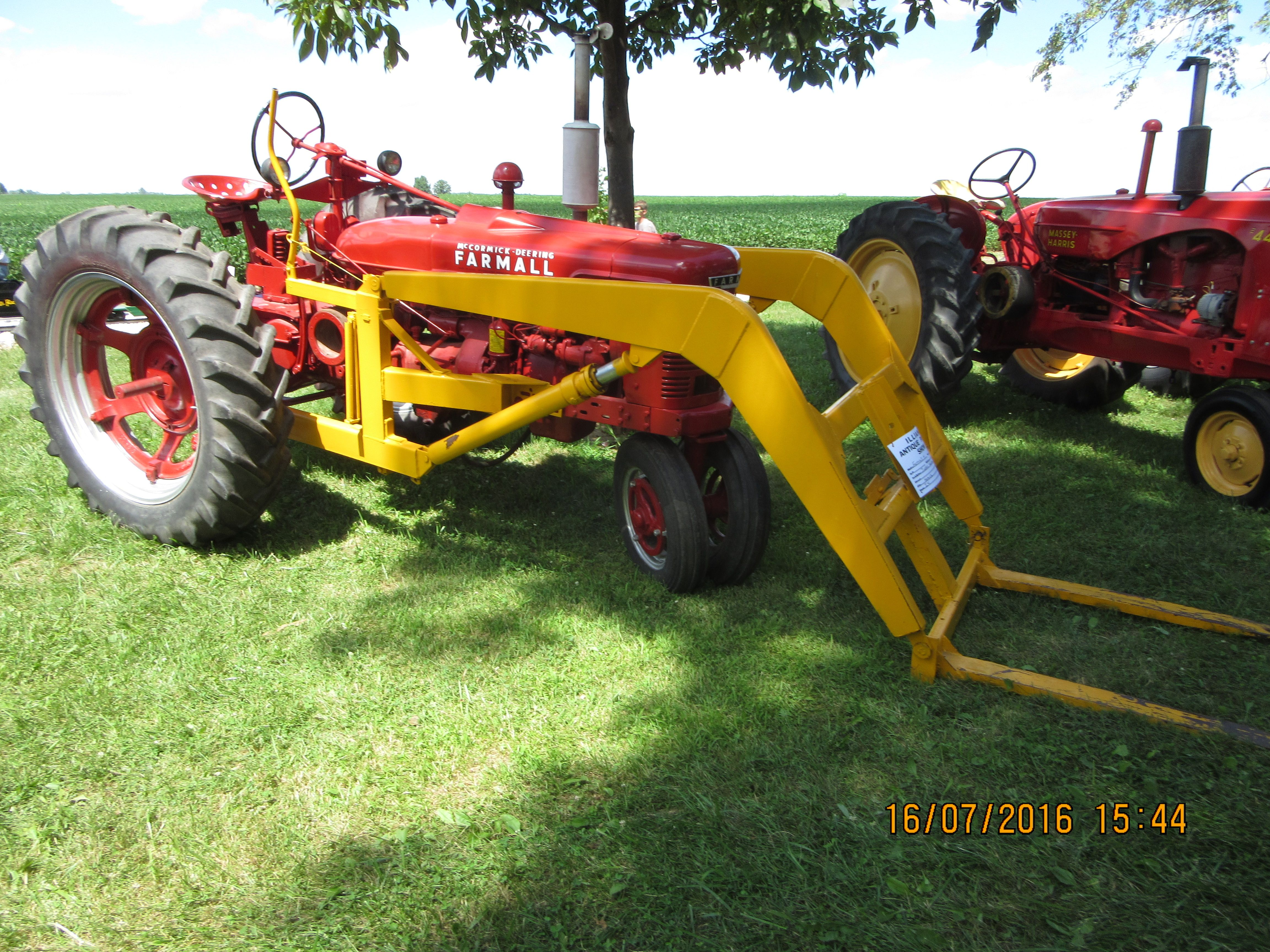 medium resolution of 1943 farmall h with yellow loader