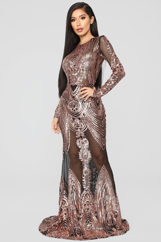 e2cfa62d4256 On The Red Carpet Dress - RoseGold | Fashion nova | Dresses, Red ...