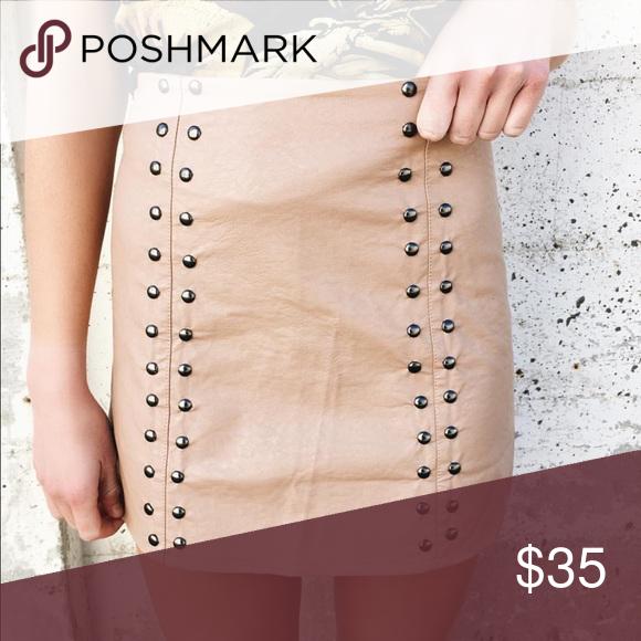 LF Faux leather studded leather skirt NWT au 8 LF Skirts Mini