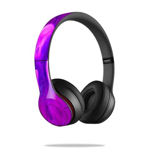 78a97667713 Mightyskins Protective Vinyl Skin Decal Cover for Dr. Dre Beats Solo2  Headphones wrap sticker skins Purple Heart