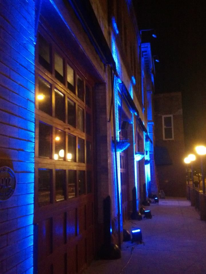 Outdoor uplighting by Party Palace Wedding u0026 Tent Rentals in Bloomington IL . & Outdoor uplighting by Party Palace Wedding u0026 Tent Rentals in ...