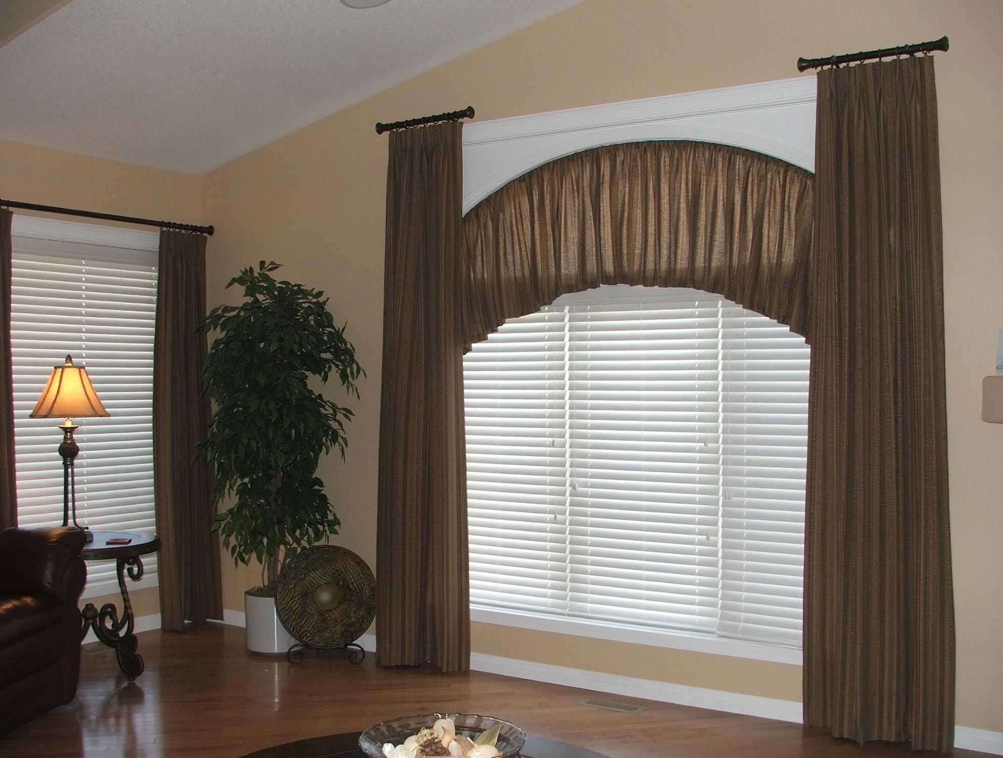 Curved Curtain Rods Corner Windows