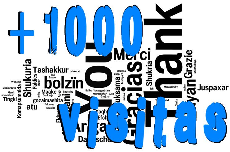 Micropost: +1000 Visitas... ¡¡¡GRACIAS!!! | Las Tribulaciones de un Papá Agonías