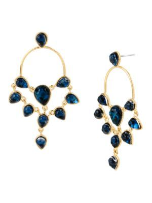 DIANE VON FURSTENBERG Aquarius Stone Chandelier Earrings. #dianevonfurstenberg #earrings