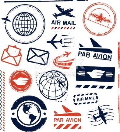 Journal · Envelope Template PrintableTravel StampAirmail ...