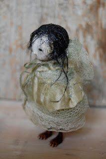 Millpond Mildred  OOAK Paper Clay Art Doll ADE EGADS - Reserved.. £50.00, via Etsy.