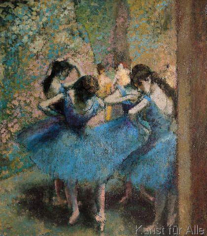 Edgar Degas - Dancers in blue, 1890