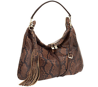 G.I.L.I. Milano Double Zip Exotic Leather Hobo