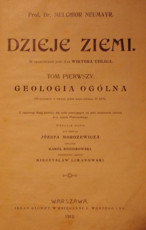 Neumayr Dzieje Ziemi T I Geologia Ogolna Wwa 1912 Polonia Antykwariat Natura Ziemia Geologia Historia Aukcja Allegro Person Personalized Items