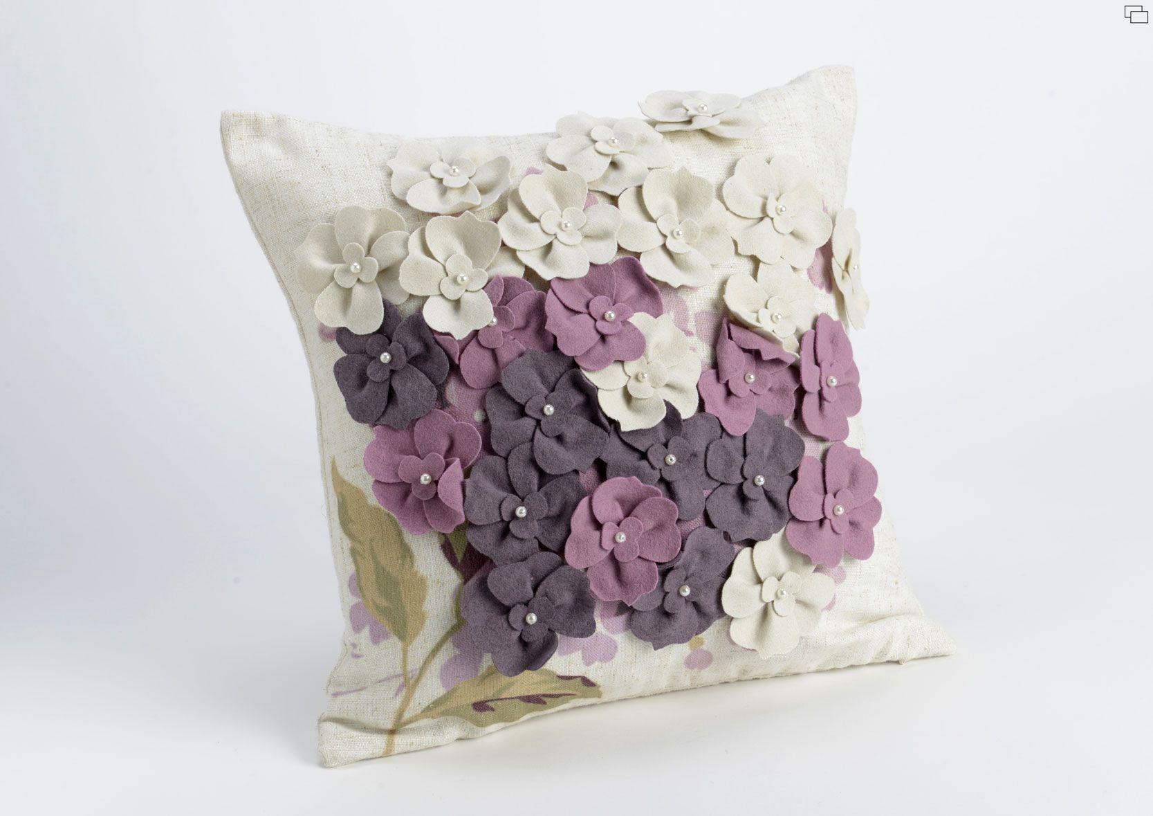 Coj n cuadrado flores color blanco rosa y malva for Muebles romanticos blancos