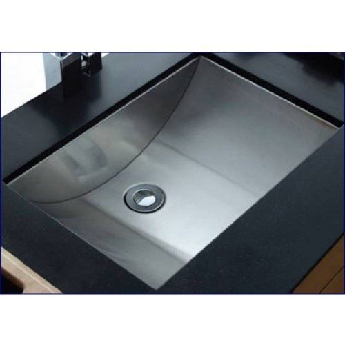 This Bathroom Undermount Sink By Cantrio Koncepts Has A Rectangular Shape With Curvilinear Basin The Is Made Out Of High Quality 304 Stainless Steel