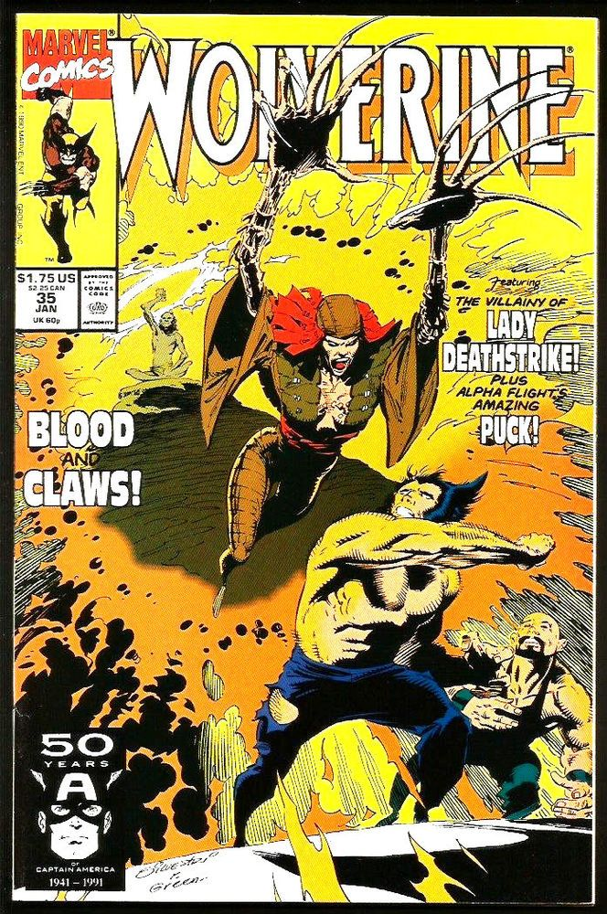 WOLVERINE #35 VF+/NM Marvel Comics 1991 1st print 1st long series