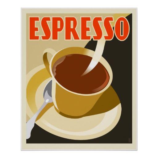 Cafe Deco Espresso Poster | Architecture, An and Art deco
