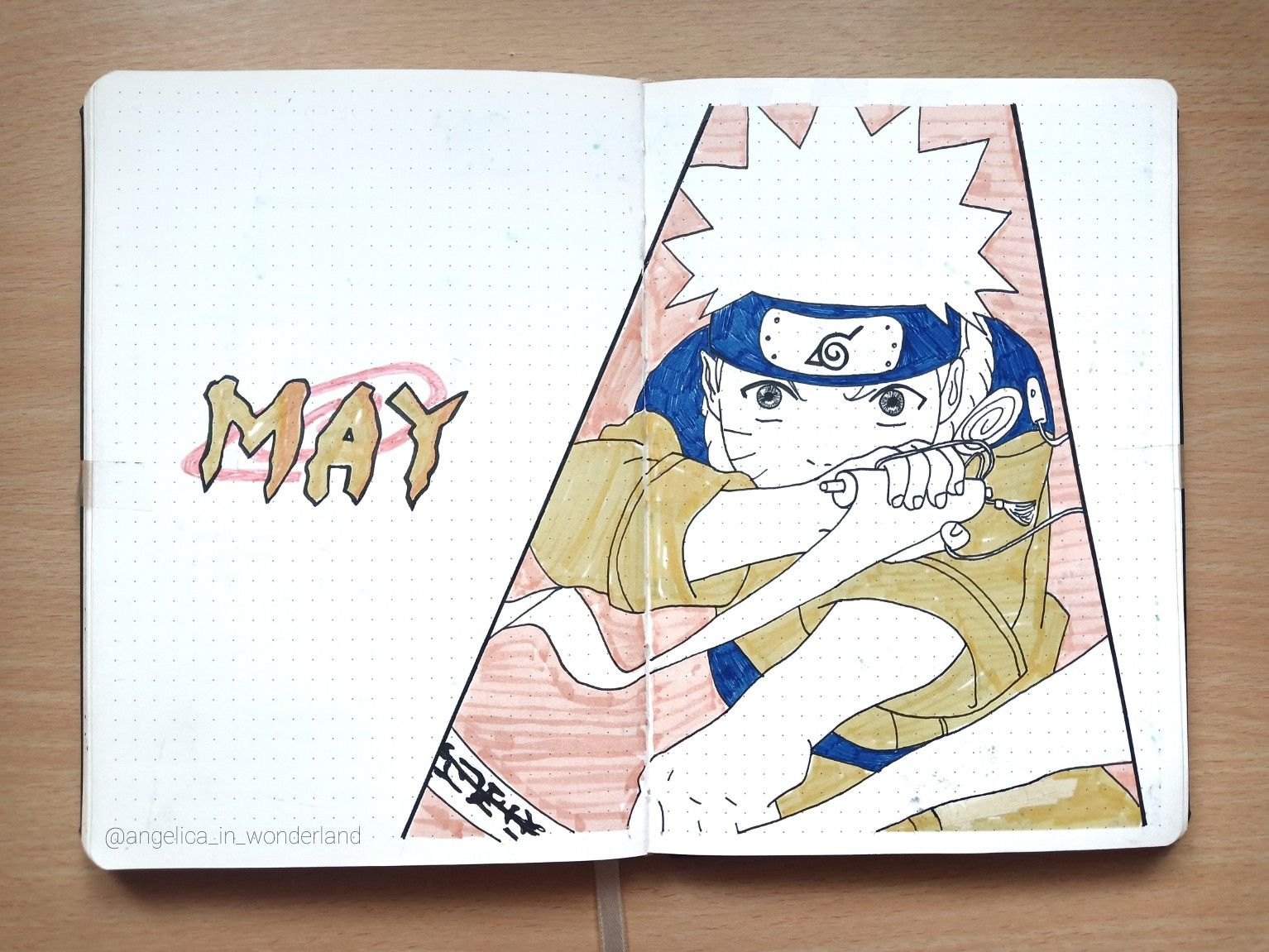 Naruto Themed May 2019 Anime Bullet Journal Cover Page Bullet Journal Themes Bullet Journal Ideas Pages Bullet Journal Aesthetic