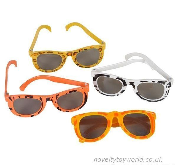 2d1b33349f9 These fun novelty kids glasses feature assorted safari themed prints on the  frames. Child sized and no UV protection. Wholesale bulk buy from 576 units.