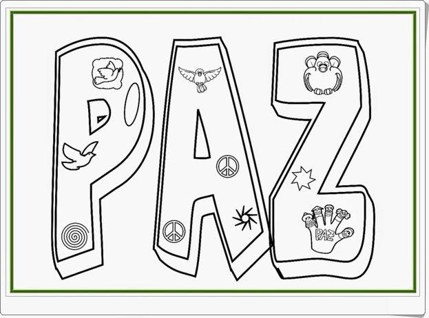 """Día De La Paz Galería De Dibujos Y Carteles Niños Del: """"Coloreamos Por La Paz"""" Es Un Sencillo Cuadernillo Con"""