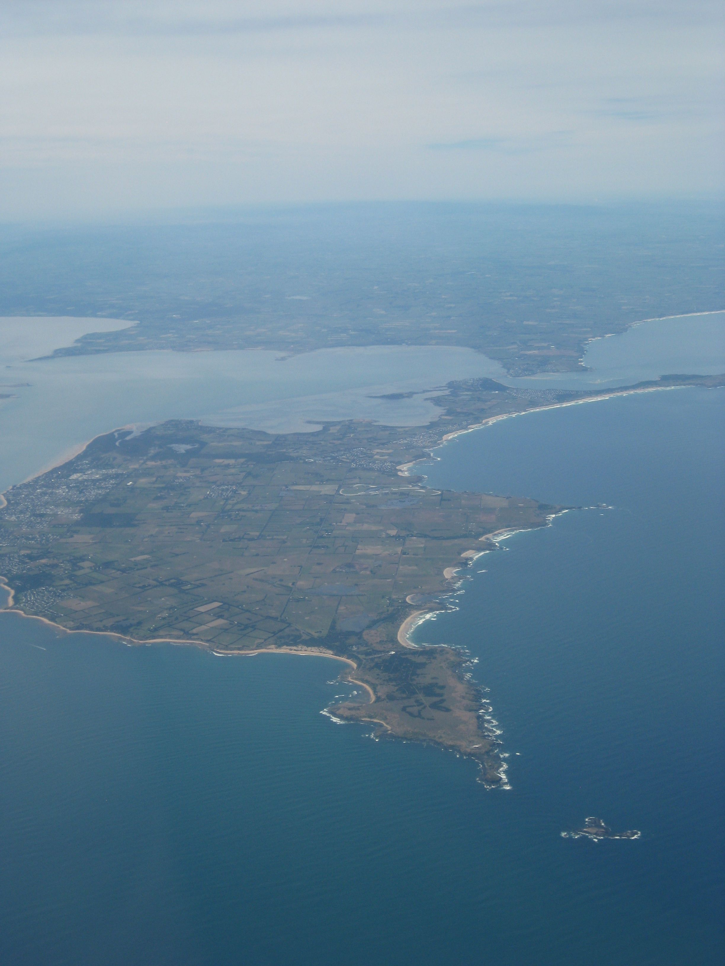 view from plane 25th Dec of Phillip Island