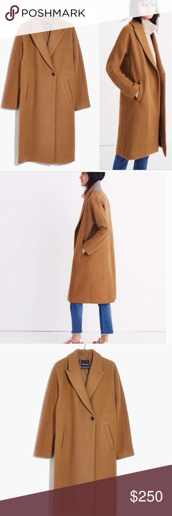 Madewell Atlas Cocoon Coat in burnished cedar New with