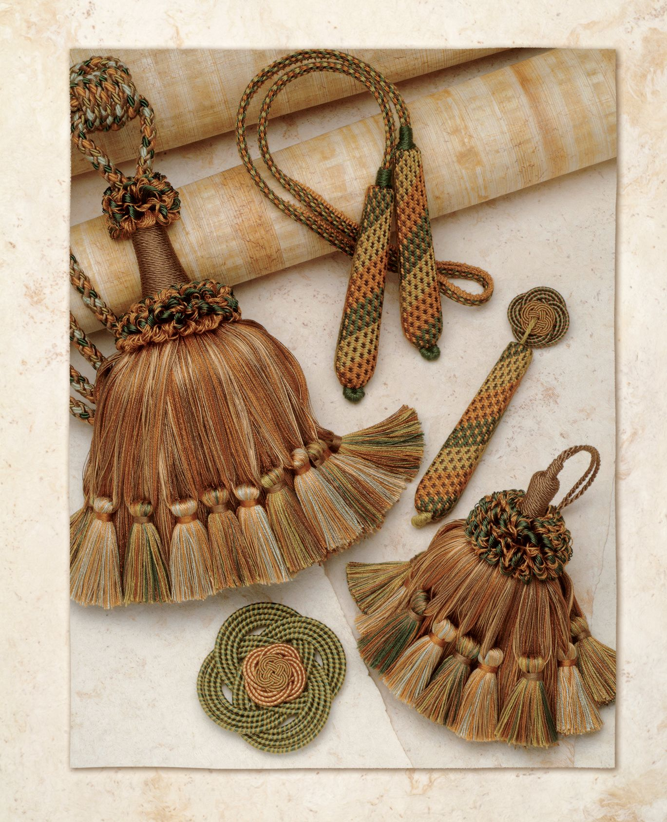 Decorative accessories from the Renaissance Collection by BRIMAR. #brimar  #trim  #tassels