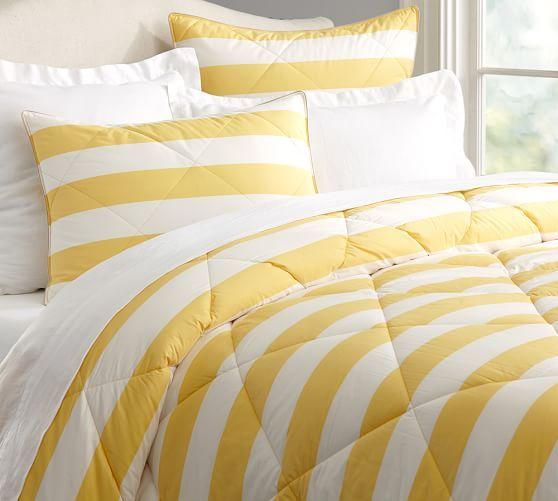 Marlo Stripe Comforter Shams Stripe Bedding Comforters Yellow Home Decor