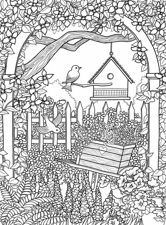 Garden Coloring Page Mandala Coloring Pages Coloring Pages Garden Coloring Pages