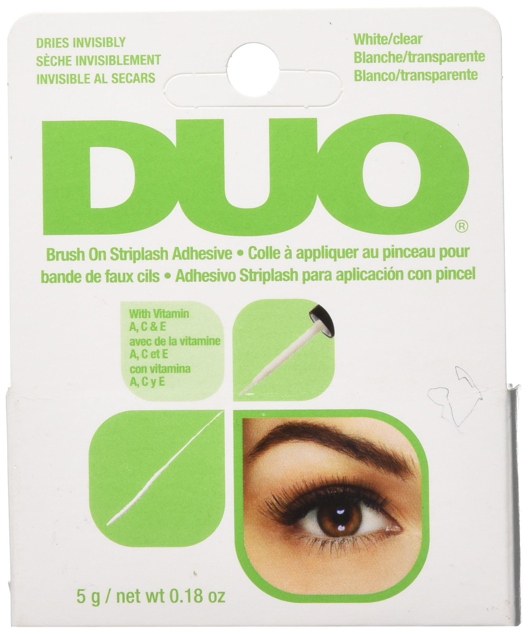 6400c9026c6 DUO BrushOn Lash Adhesive with Vitamins A C and E Clear 0.18 oz ** Read  more at the image link. (This is an affiliate link) #eyelashenhancersprimers