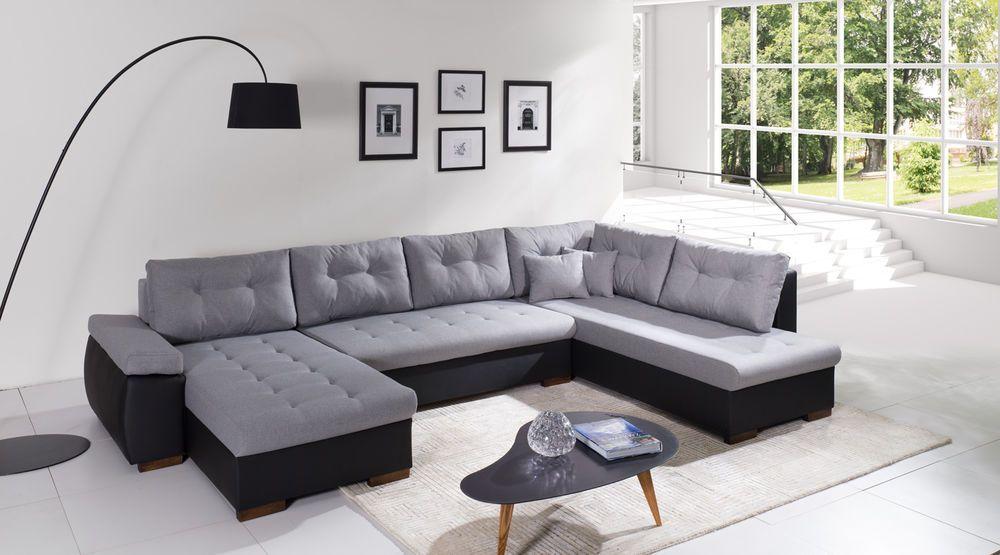 Sofa couchgarnitur couch sofagarnitur u wohnlandschaft for Runde wohnlandschaft