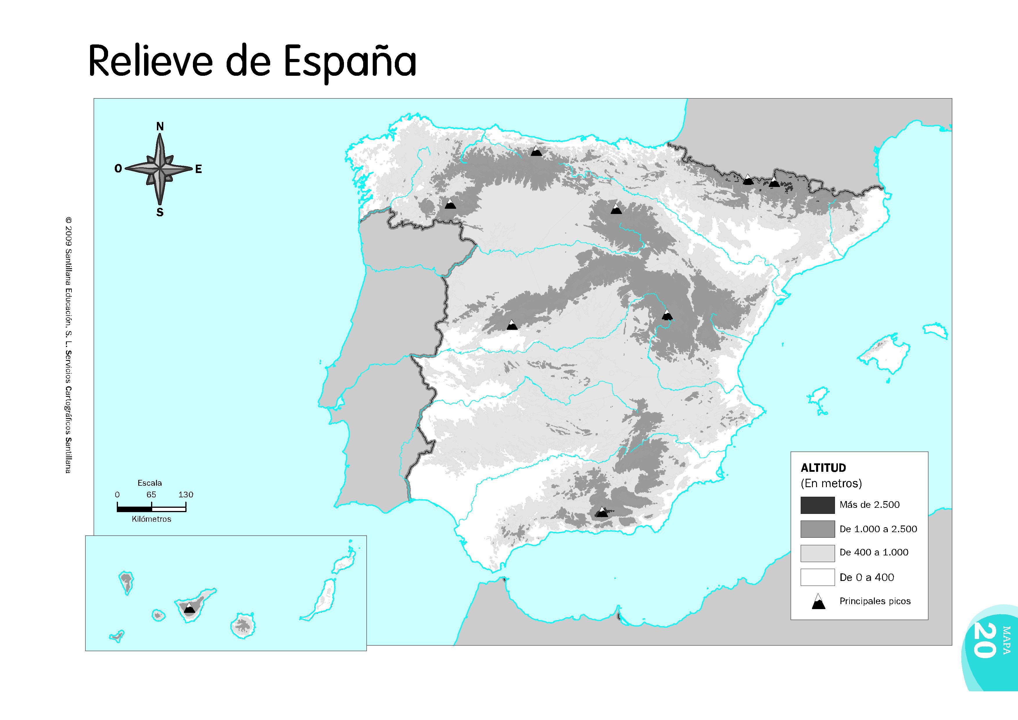 Mapa Relieve De España.Mapas Relieve Espana Mapa Fisico De Espana Y Mapa De Espana