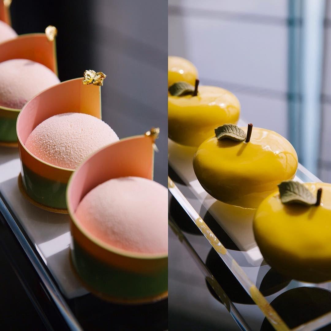 Japanese inspired pastries Sakura   Yuzu by frankhaasnoot