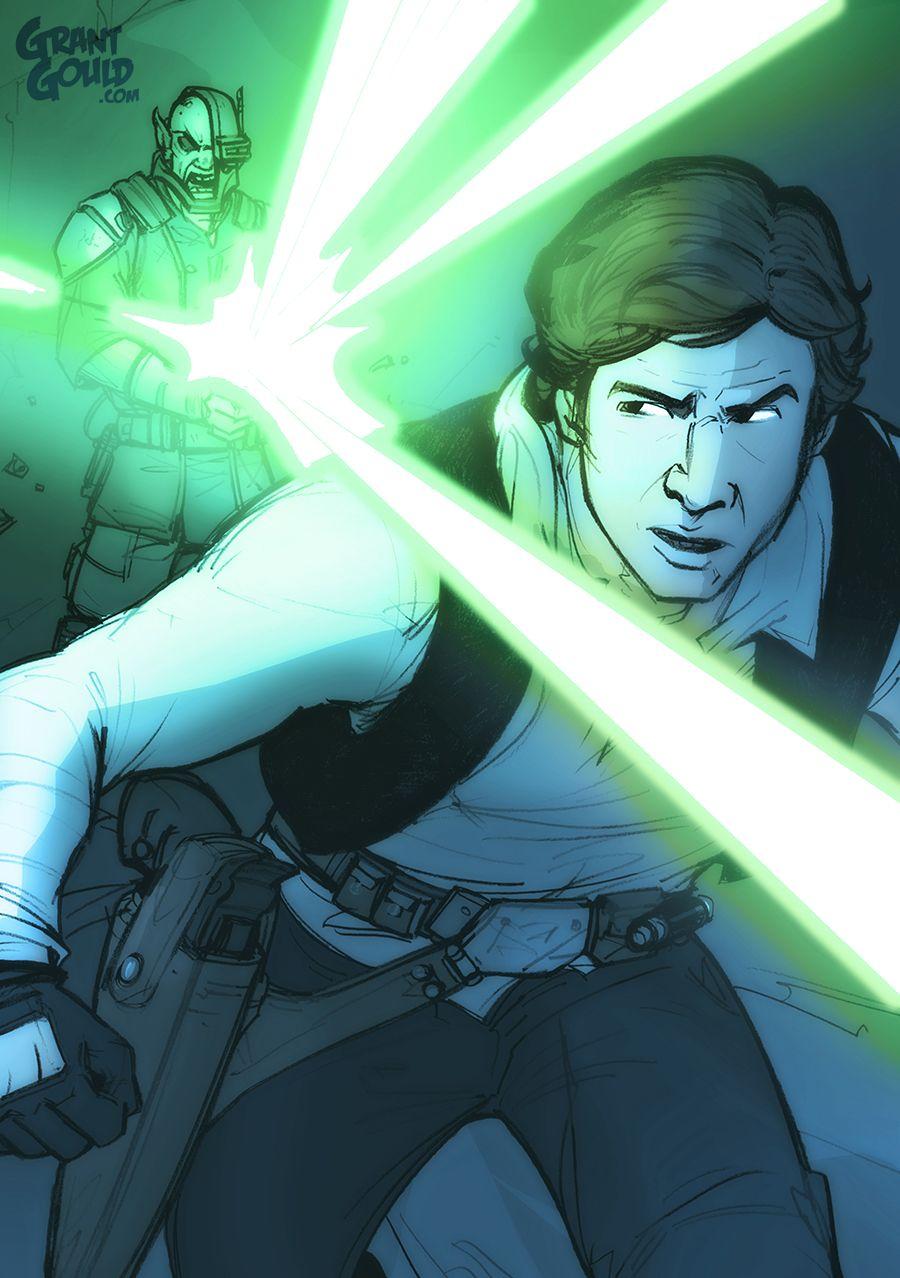 Star Wars Illustrated ESB: HAN SOLO by grantgoboom.deviantart.com on @DeviantArt