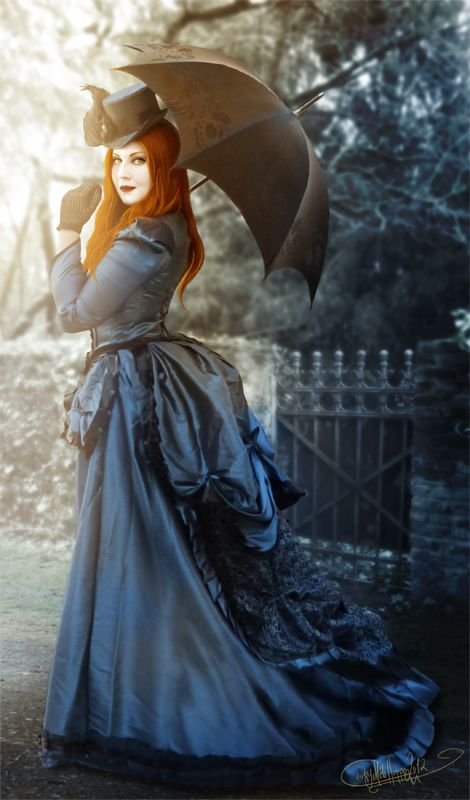 Lady in Blue by *MADmoiselleMeli on deviantART - Victorian